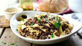 Venison + Mushroom Pappardelle Recipes
