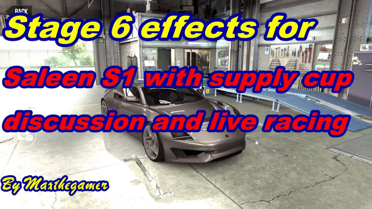 CSR2 Saleen S1 Stage 6 effects with supply cup and live runs