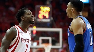 Russell Westbrook & Patrick Beverley Go at Each Other