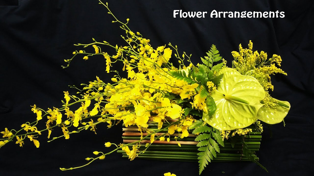 Flower Decoration Ideashow To Design Oncidium Orchids Yellow Flower