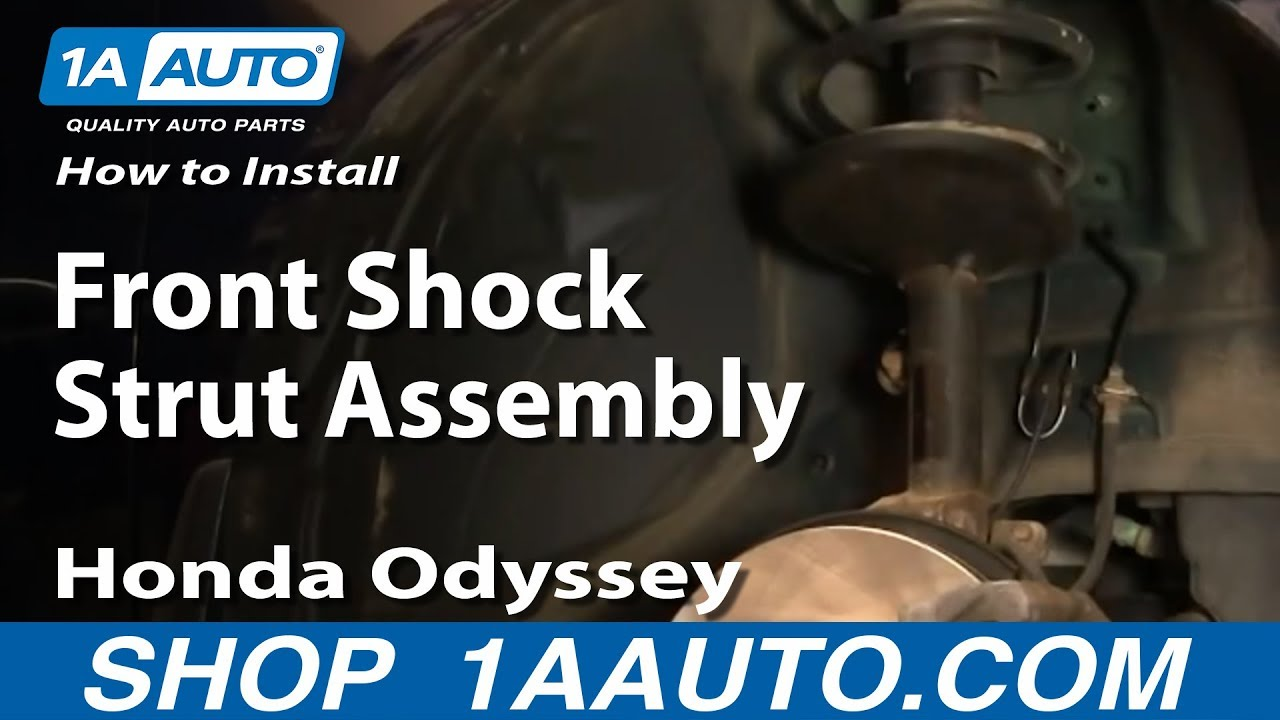 how to install replace front shock strut assembly honda. Black Bedroom Furniture Sets. Home Design Ideas