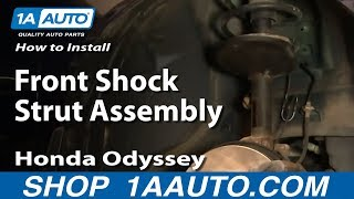 How To Install Replace Front Shock Strut Assembly Honda Odyssey 99-04 1AAuto.com