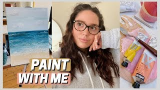 paint with me! my second ever painting 👩🏻🎨🎨