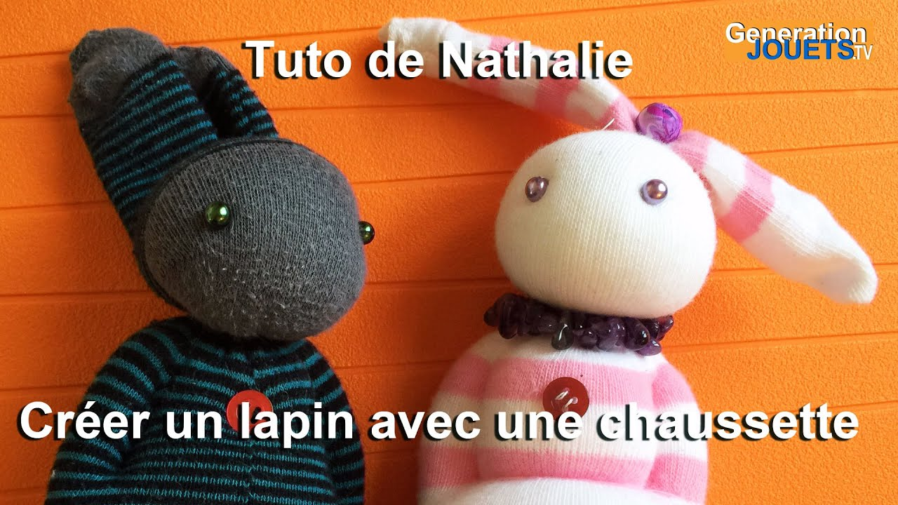 Tuto couture cr er un lapin en recyclant une chaussette - Creation facile a faire ...