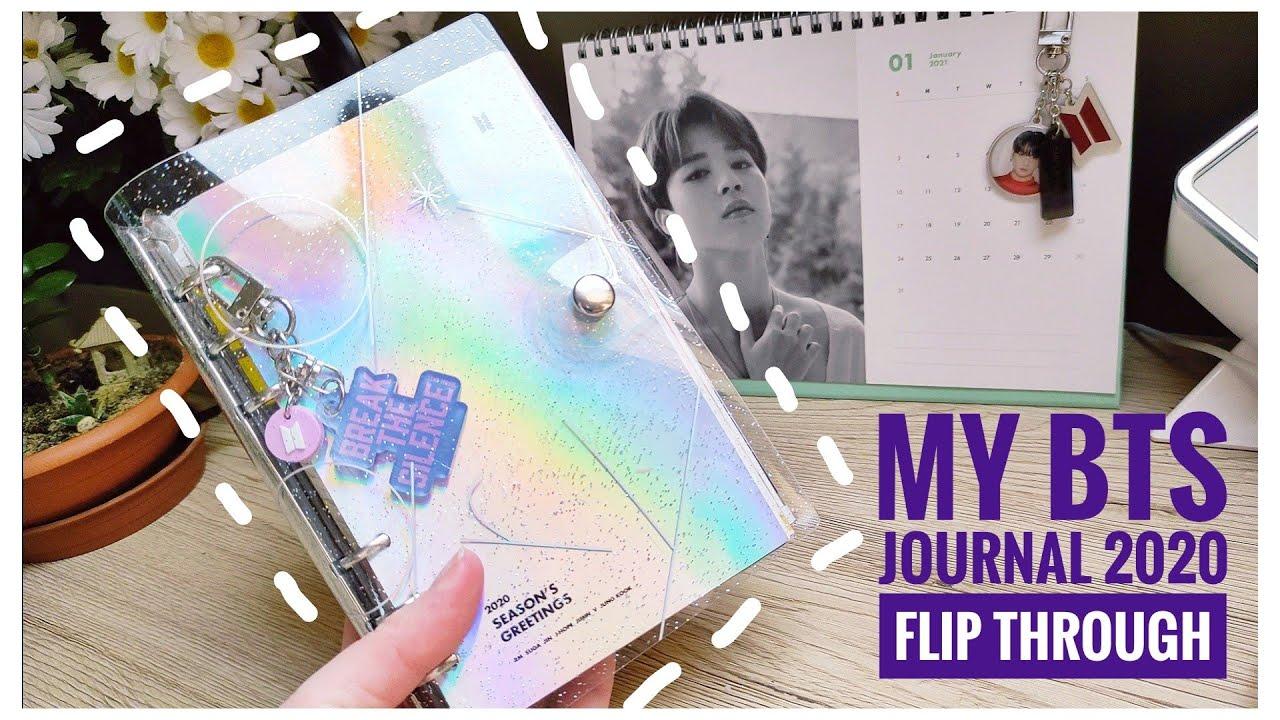 BTS 2020 Journal Flip Through | Entire BTS 2020 Schedule in 1 Diary