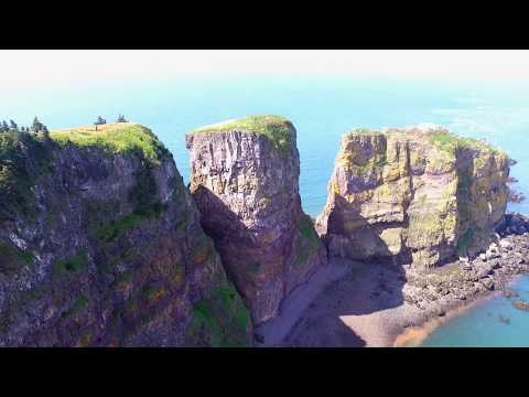 Cape Split Nova Scotia from Drone