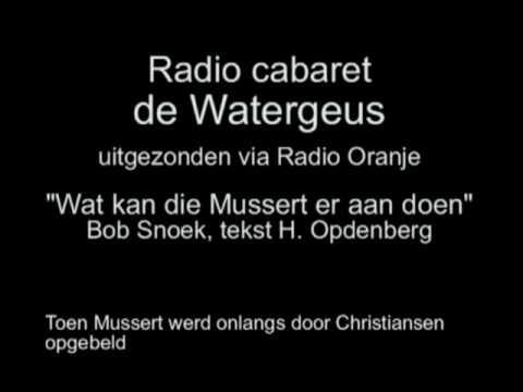 Radio Cabaret de Watergeus afl 25 - Wat kan die Mussert er aan doen
