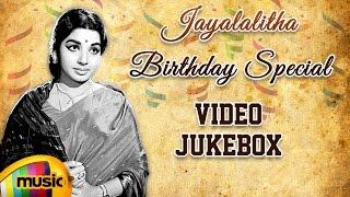 Jayalalitha Birthday Special | Top 10 Songs of Jayalalitha | Video Jukebox | MGR | Sivaji | MSV