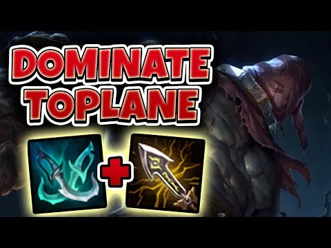 DOMINATE TOPLANE AS TRYNDAMERE!! HOW TO WIN LANE EASY - League of Legends Full Gameplay thumbnail