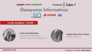 Desayuno Informativo Andalucía con el consejero Javier Imbroda y Haze