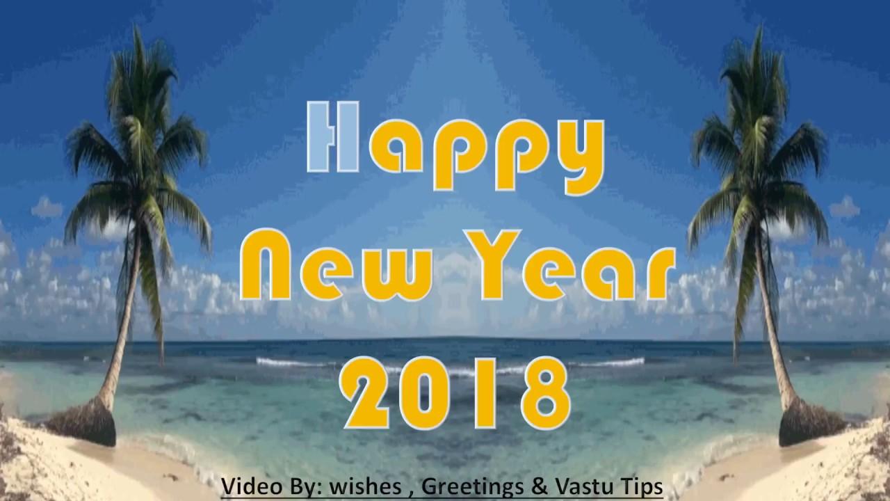 Happy New Year 2018 Wishes Video DownloadWhatsapp Videosongcountdown Wallpaperanimation