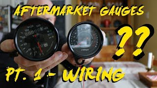 How to wire aftermarket amazon motorcycle gauges - YouTube | Aftermarket Electronic Speedometer Wiring Diagram |  | YouTube