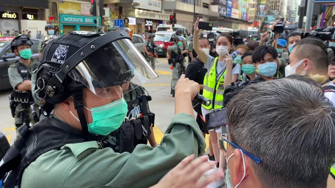 警旺角帶走53人控非法集結 區議員徐子見、林兆彬同被捕