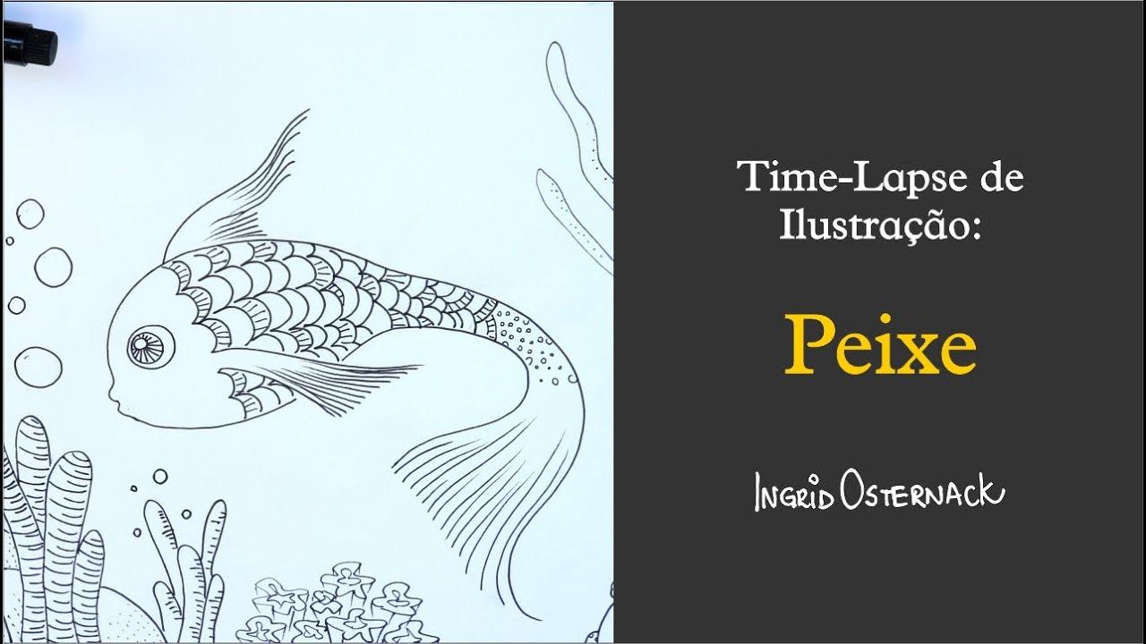 Time Lapse de Ilustração - Peixe