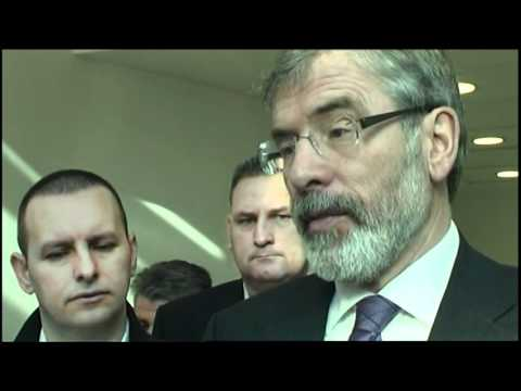 No to English Queen Visit - Gerry Adams