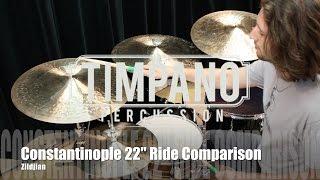 Zildjian K Constantinople 22'' Ride Comparison: Medium, Medium Thin Low, Bounce