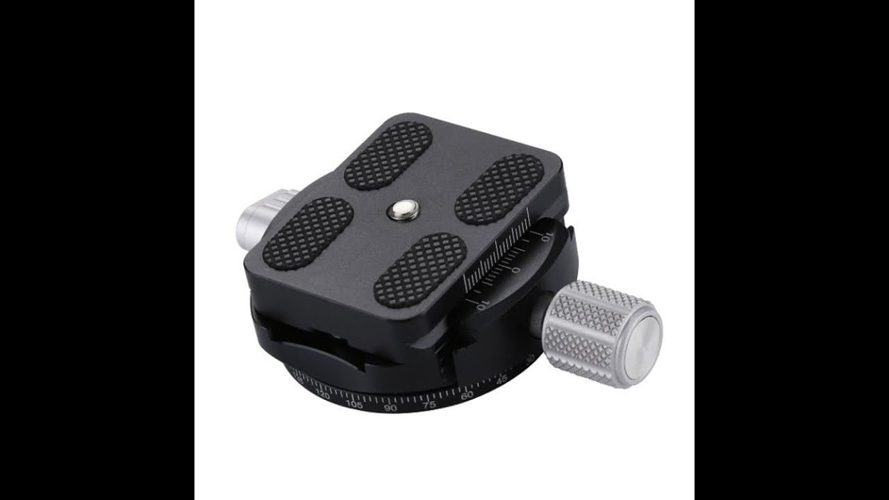 Color : Grey CAOMING Aluminum Alloy Quick Release Plate for Panoramic Head Grey Durable