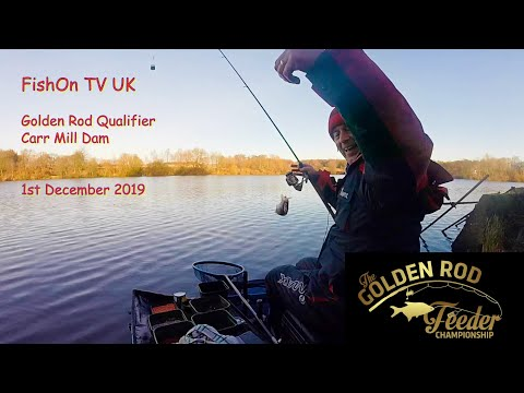 FishOn TV UK, Golden Rod Match.  Carr Mill Dam. War Of The Roses!  December 2019