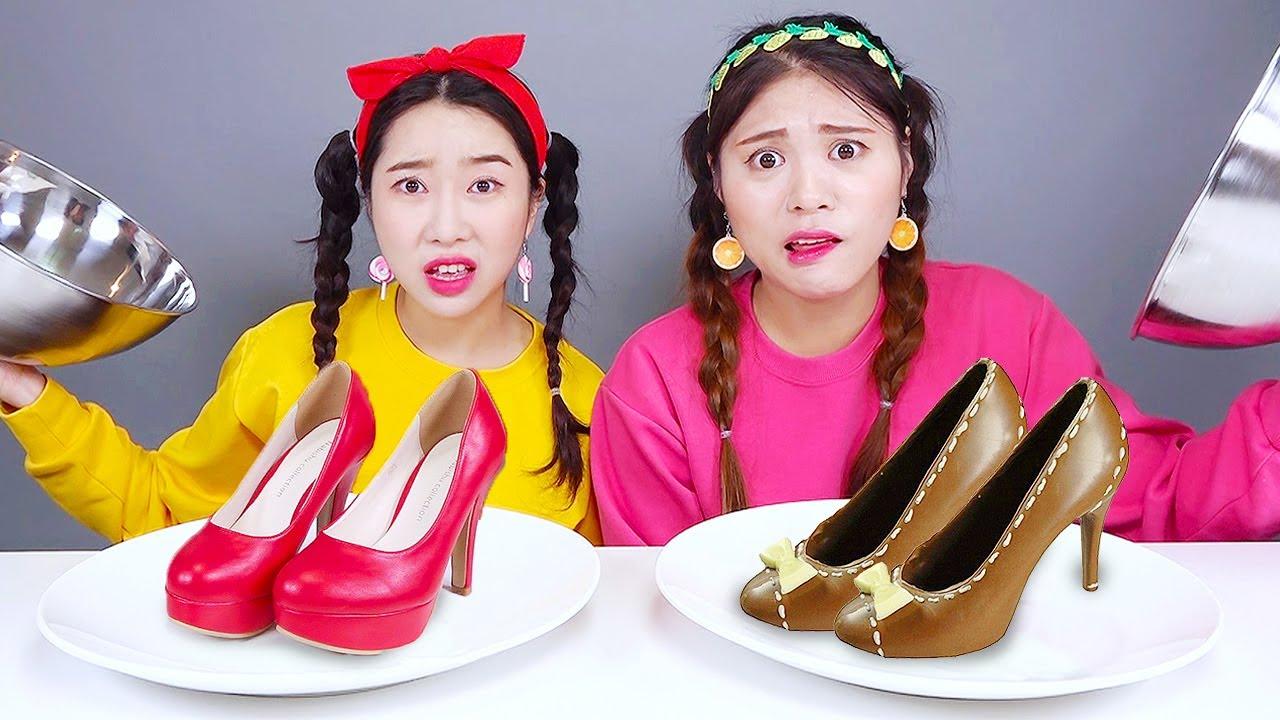 Chocolate VS Real Food Challenge DONA Mukbang