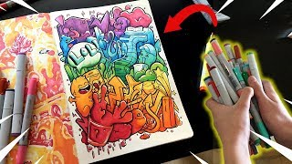 Using ALL My Markers In ONE Drawing !! | Copic Marker Art Challenge