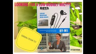 Best Low Budget Mic | BOYA BY-M1 | UnBoxing Review & Test |