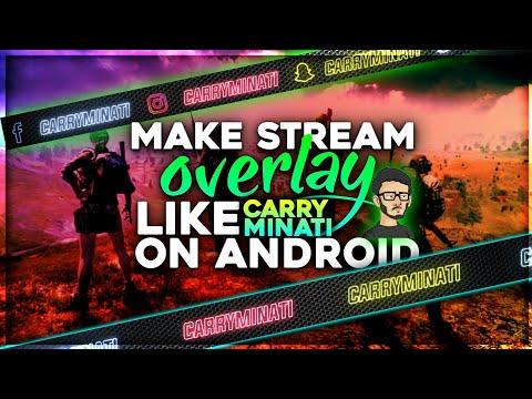 Make Stream Overlay Like Carryminati On Android | Best Overlay | Neon Overlay