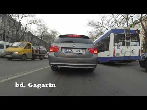 Excursie Chisinau. Strazi. Scoala Auto. Chisinau Tour (HD)