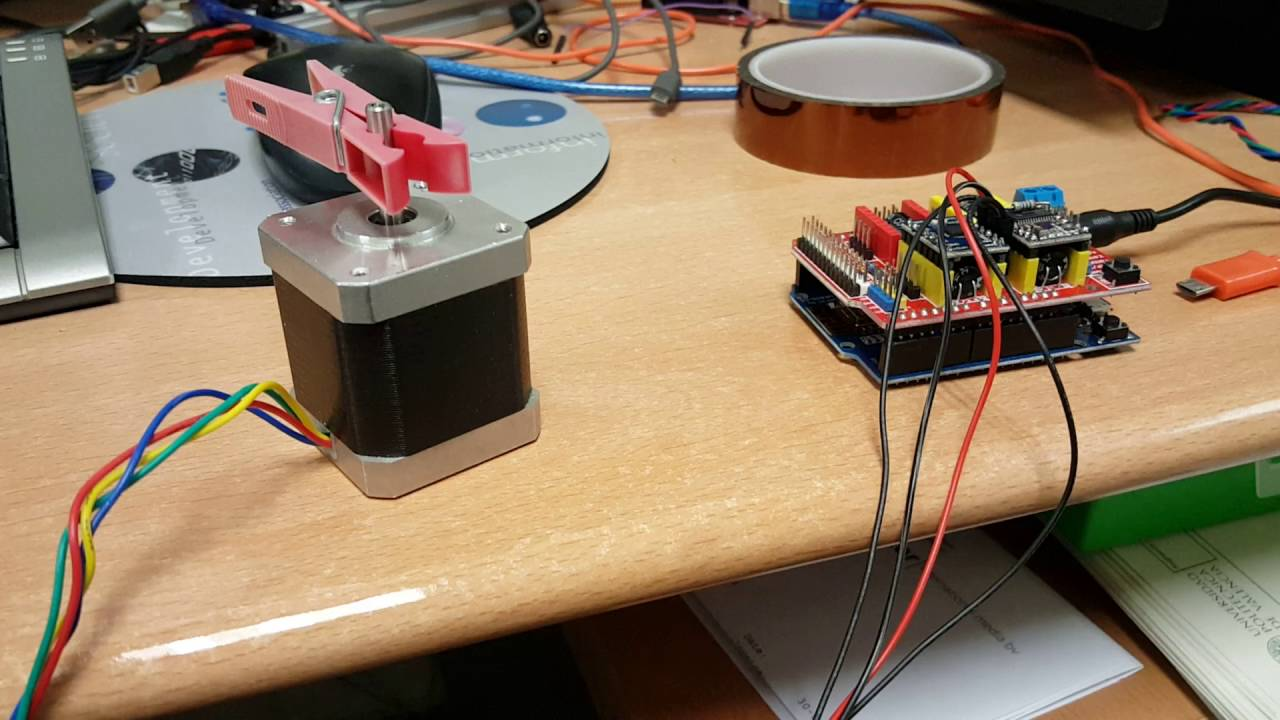 ESP12 with CNC shield controlled via wifi using UDP