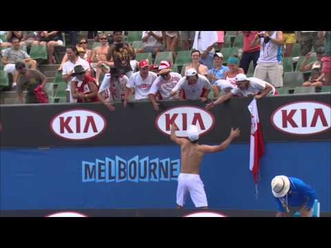 Janowicz Rips His Jerzy Off | Australian Open 2014