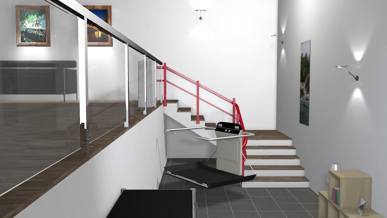 plattformlift f r kurvige treppen garaventa lift das treppenlift unternehmen youtube. Black Bedroom Furniture Sets. Home Design Ideas