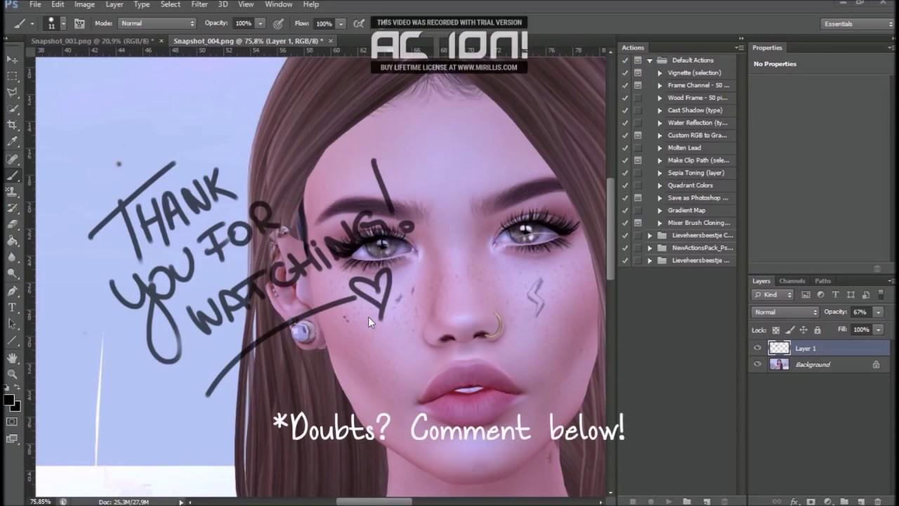 Second life 3d model photoshop