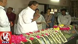 Telugu Film Industry Celebrities Pays Homage To Veteran Producer K Raghava   V6 News