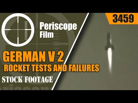 GERMAN V 2 ROCKET TESTS AND FAILURES w/ Wernher Von Braun 3459