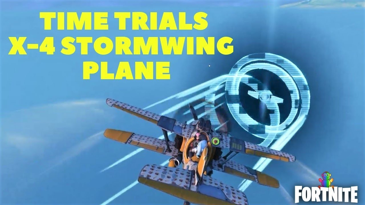 fortnite complete time trials in an x 4 stormwing plane season 7 week 9 challenges - fortnite complete time trials in an x 4