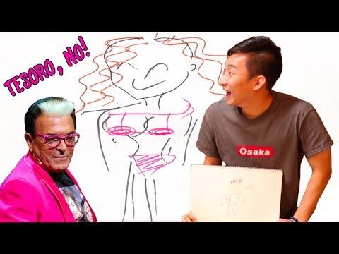 COREANI disegnano NOMI e PAROLE ITALIANE 😂 w/ Cicciogamer e Cristiano Malgioglio