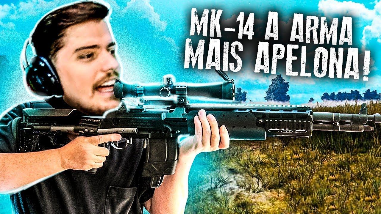 NETENHO CAVALCANTE - MK14 A ARMA MAIS APELONA DO PUBG