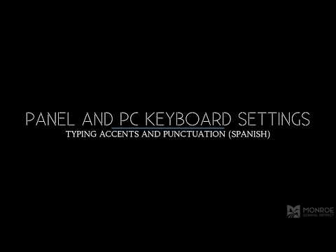 Typing Spanish Accents On A Panel Or PC