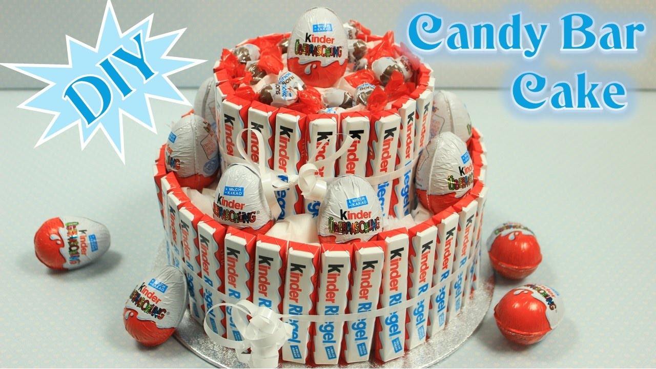 Kinderriegel Eis Torte Candy Bar Cake