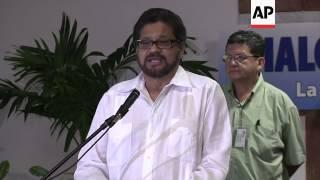 Negotiators arrive as peace talks resume, FARC comments