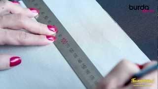 Швейная машинка. Видео урок 7 от Burda: защипы