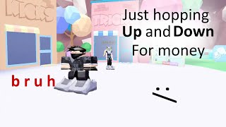 Jumping for MONEY of ROBLOX - Bounce! Gameplay