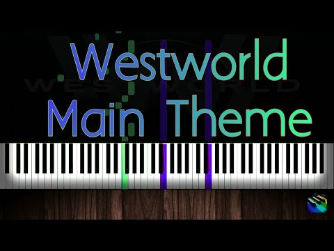 Westworld Main Theme- Piano tutorial (Synthesia)