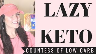 Lazy Keto Diet Day Of Eating 👸 Easy Keto For Weightloss LCHF Eating