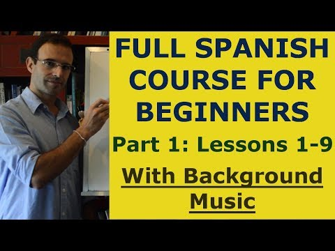 THE SPANISH LESSONS - Spanish for beginners 1-9 (with music)