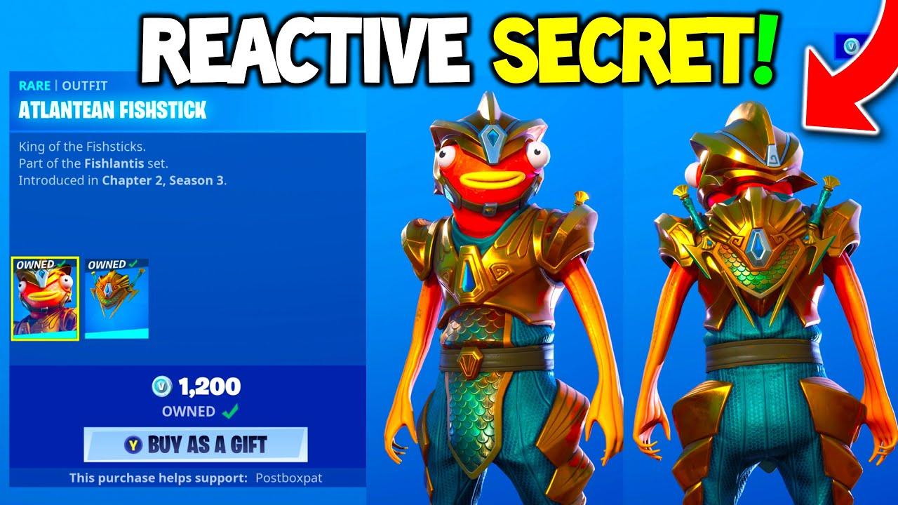 Atlantean Fishstick Is Here Secret Reactive Backbling Fortnite Item Shop Youtube