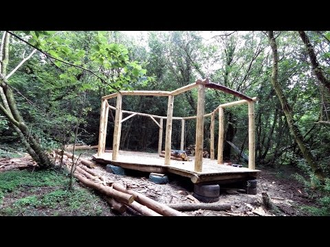 Off grid roundhouse build part 3, The frame