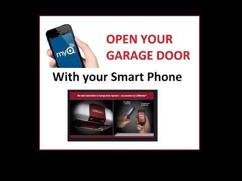 Open your garage door with a smart phone! How to setup LIftmaster MyQ connectivity setup iphone