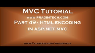 Part 49   Html encoding in asp net mvc