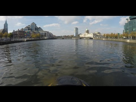 Dublin city by Jetski