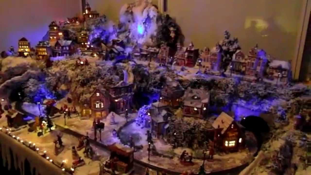 christmas village lemax miniature selfmade 2012 youtube - Miniature Christmas Town Decorations